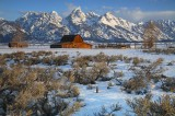 mormon row, moulton barn, grand teton national park, wyoming, grand teton, tetons, teton, grand tetons, snow,