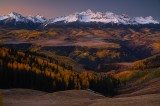 wilson peak, wilson, mountain, mountains, fall, autumn, aspens, uncompaghre national forest, colorado, uncompahgre, sunr