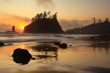 second beach, olympic national park, washington, olympic peninsula, sunset, ocean, sea, sea stack,