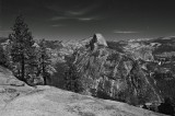 half dome, moonlight, full moon, yosemite national park, yosemite, california, ca, glacier point, valley, vernal falls,