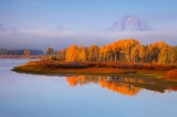 september, mt, moran, oxbow, bend, grand, teton, national, park, wyoming, wy, fall, autumn, aspens, mountain, great, blu
