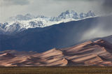 Great sand dunes, national park, dunes, sand, mountains, rain, snow, sangre de cristo, colorado, co