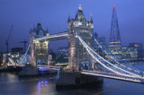 tower bridge, river thames, the shard, london, england,