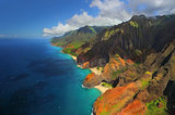 Na Pali Coast, Nā Pali Coast, kauai, hawaii, coast, north shore, pacific ocean, colors, landscape, beaches