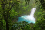 rio celeste, costa rica, blue, waterfall, tenorio volcano, river,
