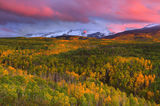 east beckwith, kebler pass, elk mountains, colorado, autumn, sunset,