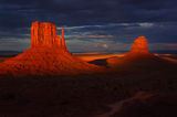 monument valley, mitten, buttes, sunset