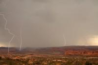 0236, Desert, Storm, Rain, Lightning, arches national park, moab, utah