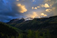 autumn, fall, chair mountain, elk mountains, elk range, colorado, marble, sunset, raggeds wilderness,