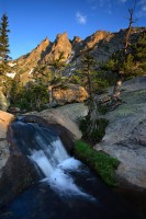 rocky mountain national park, colorado, flattop mountain, waterfall, waterfalls, mountain, mountains,