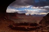 false kiva, utah, kiva, false, desert, puebloan, structure, sunset