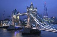 tower bridge, river thames, the shard, london, england,