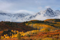 sneffels range, san juan mountains, autumn, color, mountain, snow, dallas divide