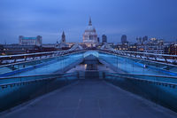 st pauls, cathedral, london, millennium bridge, london, england, modern,