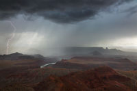 dead horse point, lightning, moab, utah desert, canyon lands,