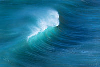 porthtowan, cornwall, united kingdom, wave, blue,