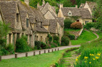 arlington row, cotswolds, england, cottages, bibury