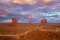 monument valley, sunset, navajo nation, arizona,