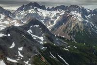 aleutians, aleutian mountains, katmai, bears, plane, aerial, glaciers, snow, peaks