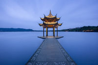 hangzhou, west lake, pagoda, china, pavilion, jixian,