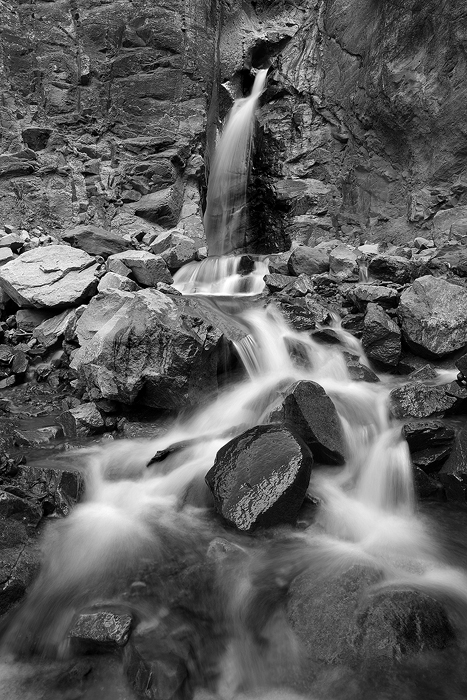 liquid, waterfall, water fall, colorado, ouray, waterfalls, rocks, black and white, , photo