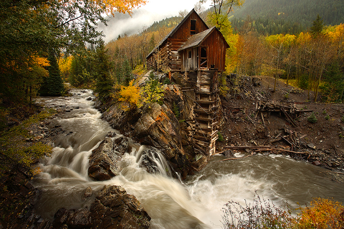 0242 Crystal Mill, Marble, Colorado, Ghost town, silver, mines, building, crystal river, photo