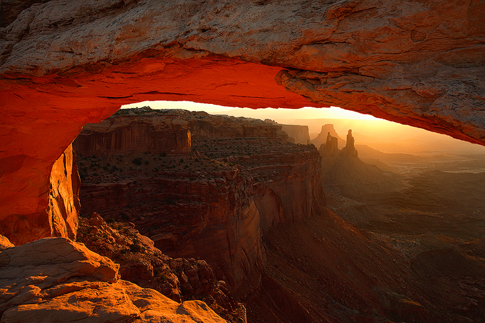 sunrise, mesa arch, canyonlands national park, canyonlands, island in the sky, utah, , photo