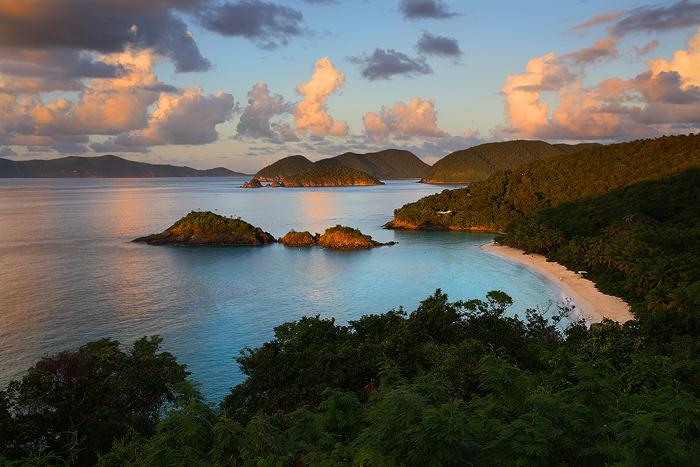 caribbean, trunk bay, st. john, virgin islands, st johns, sunset, ocean, , photo