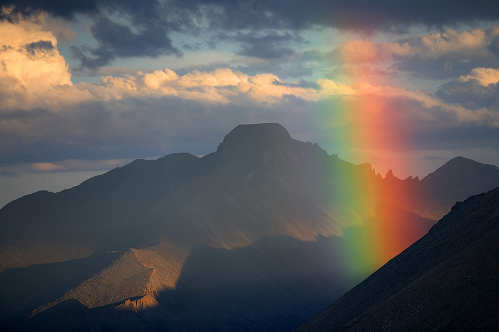 rainbow, longs peak, rainbows, longs, peak, rocky mountain national park, colorado, , photo