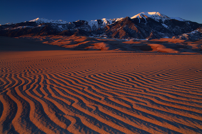 Days end, Great sand dunes national park, colorado, rays, sand, mt. herard, massif, north america, sangre de cristo, ran, photo