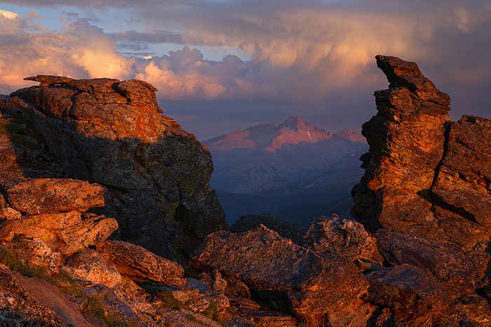 Longs Peak, mountain, mountains, rocky mountain national park, rockies, colorado, rock cut, fourteener, , photo