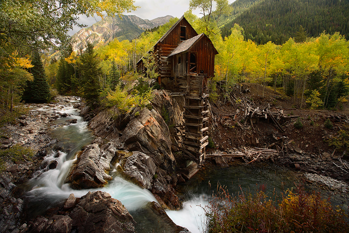 the crystal mill, crystal mill, marble, colorado, crystal river, crystal, building, mine, , photo