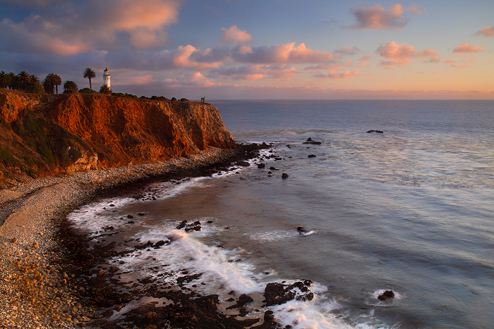 Point vicente lighthouse, palos verdes, california, last rays, penninsula, landmark, sunset, point, vicente, , photo