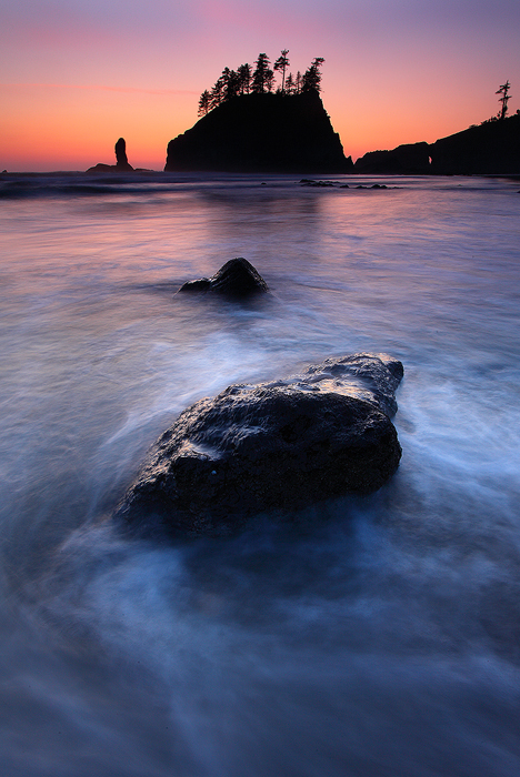 second beach, olympic national park, la push, washington, wa, olympic, olympic peninsula, beach, sunset, twilight, , photo