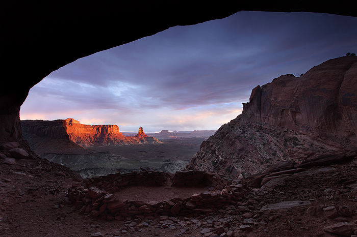 false kiva, kiva, utah, desert, sunset, sky, mesa, buttes, landscape, landscapes, , photo
