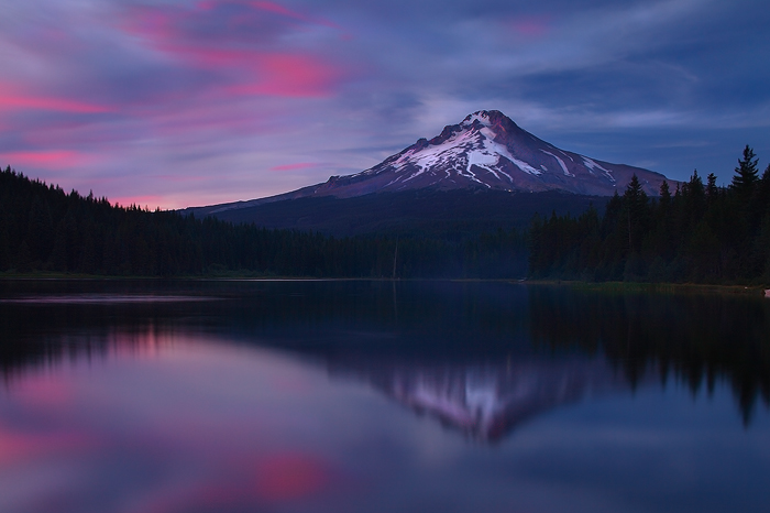Mount hood, hood, mt hood, mt. hood, sunset, lake trillium, trillium lake, lake, trillium, reflection, cascade range, ca, photo