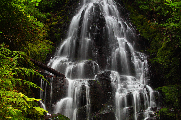 fairy falls, columbia river gorge, oregon, wahkeena creek, wahkeena, multnomah, waterfall, falls, green, columbia gorge,, photo
