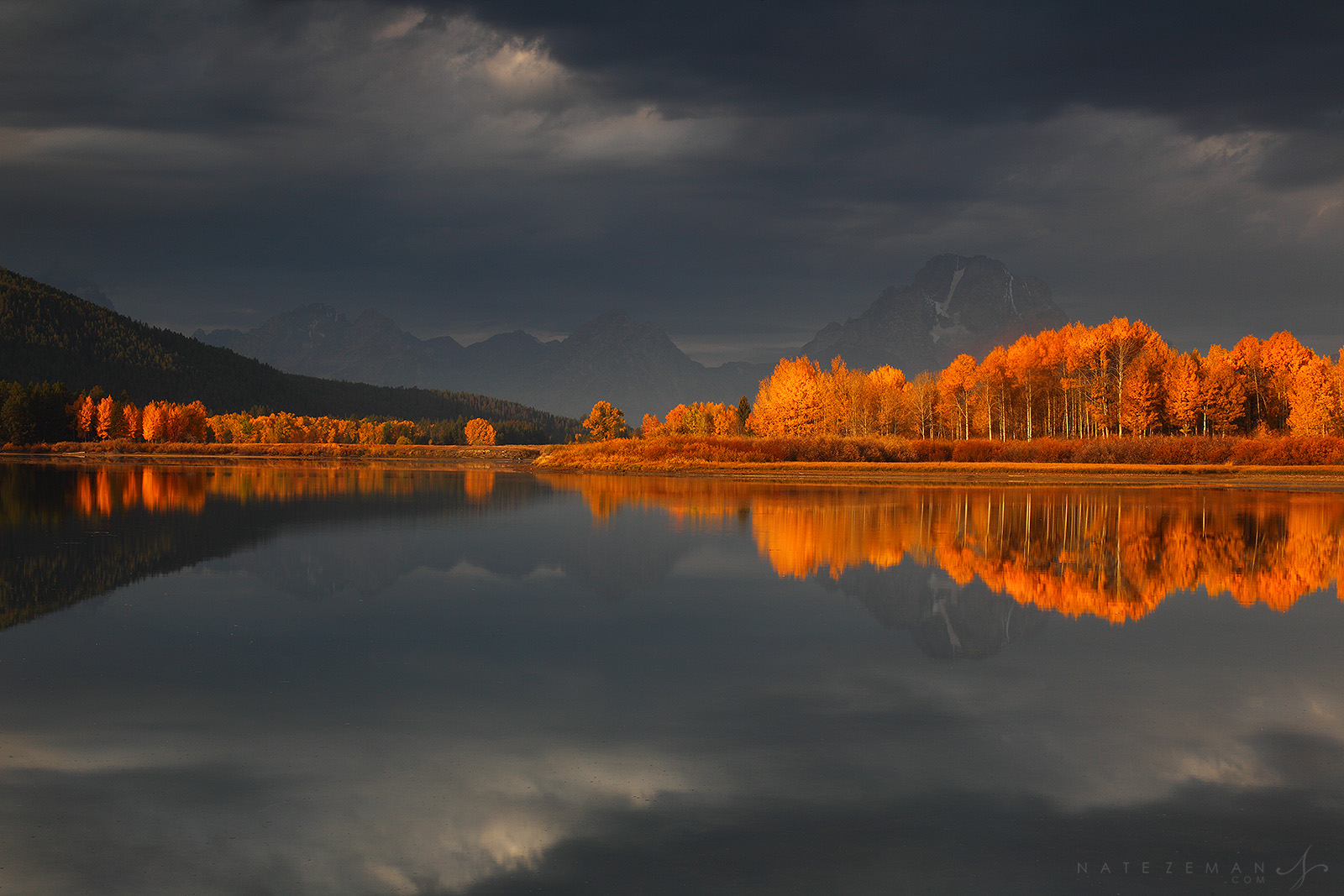 mt moran, thomas moran, moran, grand teton national park, tetons, oxbow bend, fall, autumn, yellowstone, sunrise, photo