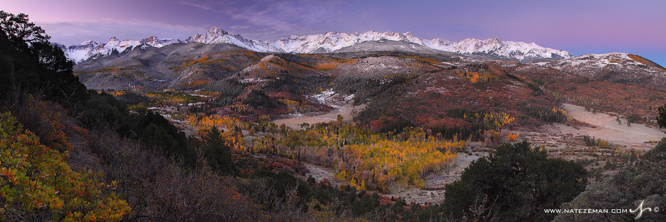 sneffels range, san juan mountains, colorado, co, sun, panorama, sky, color, fall, autumn, snow, storm, range, fourteene, photo