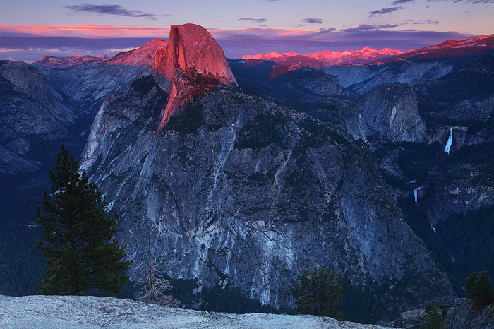 glacier point, yosemite, yosemite national park, sunset, half dome, valley, water, nevada falls, vernal falls, , photo