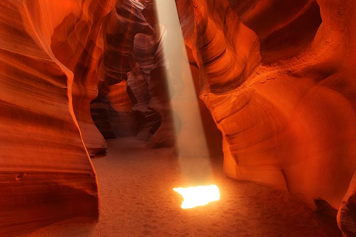 cathedral, antelope canyon, upper, antelope, canyon, navajo, nation, water, beam, light, spring, fall, red, arizona az, , photo