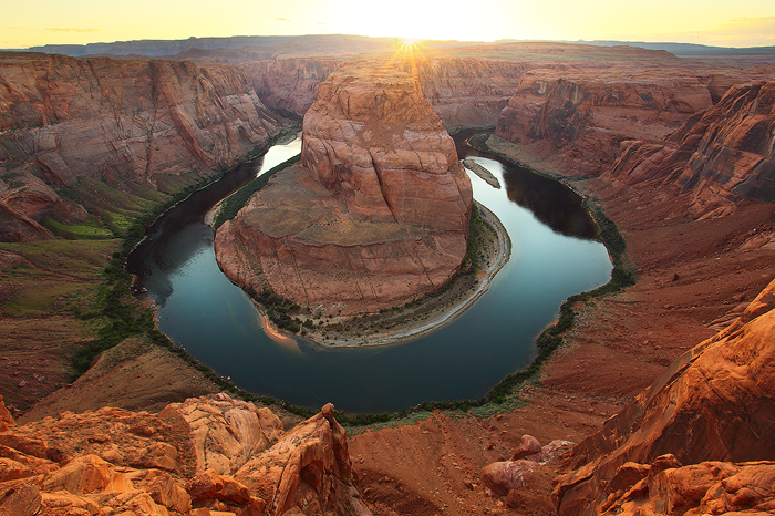 horse shoe bend, horseshoe bend, page, arizona, az, grand canyon, sunset, cliff, colorado river, page, desert, photo