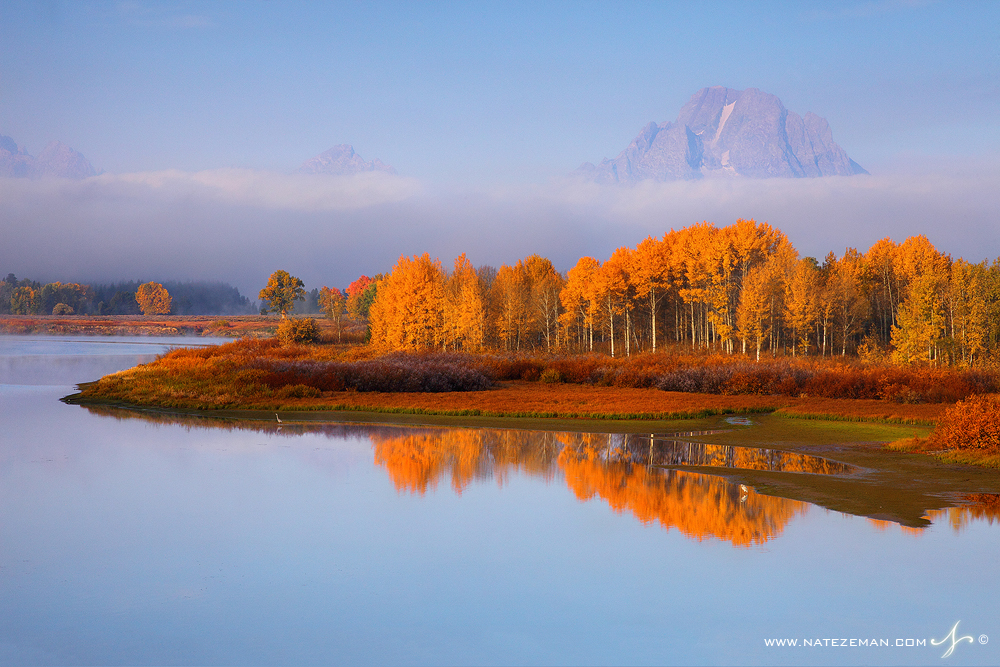 september, mt, moran, oxbow, bend, grand, teton, national, park, wyoming, wy, fall, autumn, aspens, mountain, great, blu, photo