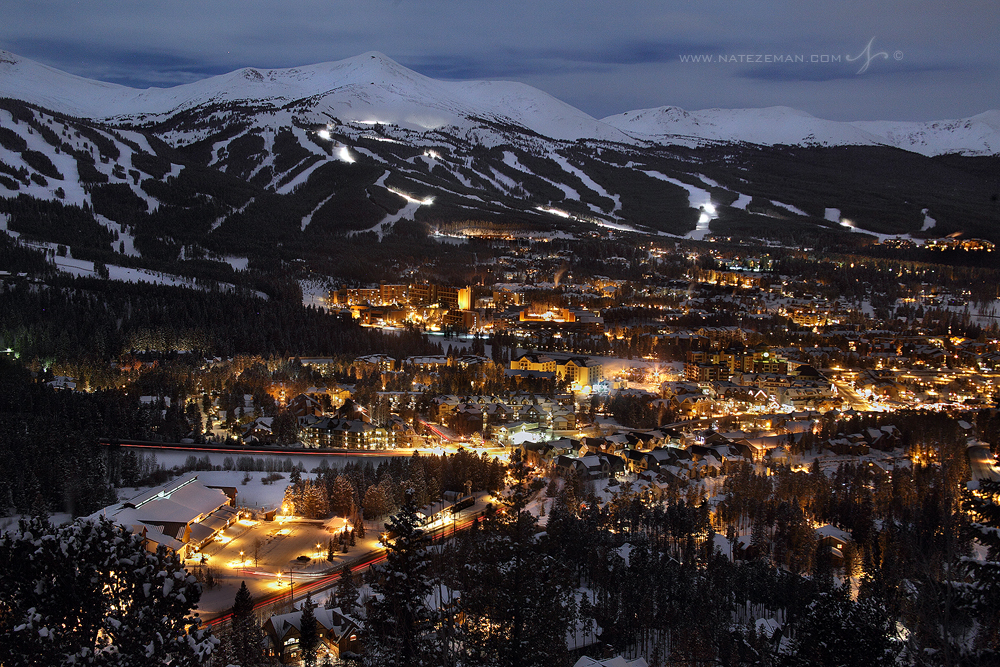 night, snow, moon, breckenridge, ski, resort, colorado, night, snow, moon, full, snow moon, breck, , photo