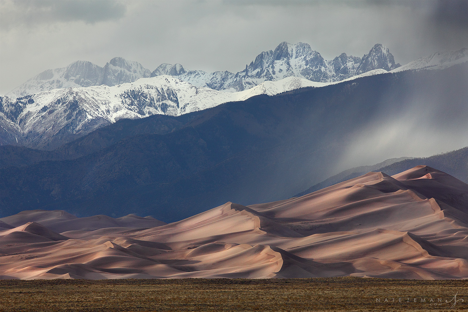 Great sand dunes, national park, dunes, sand, mountains, rain, snow, sangre de cristo, colorado, co, photo
