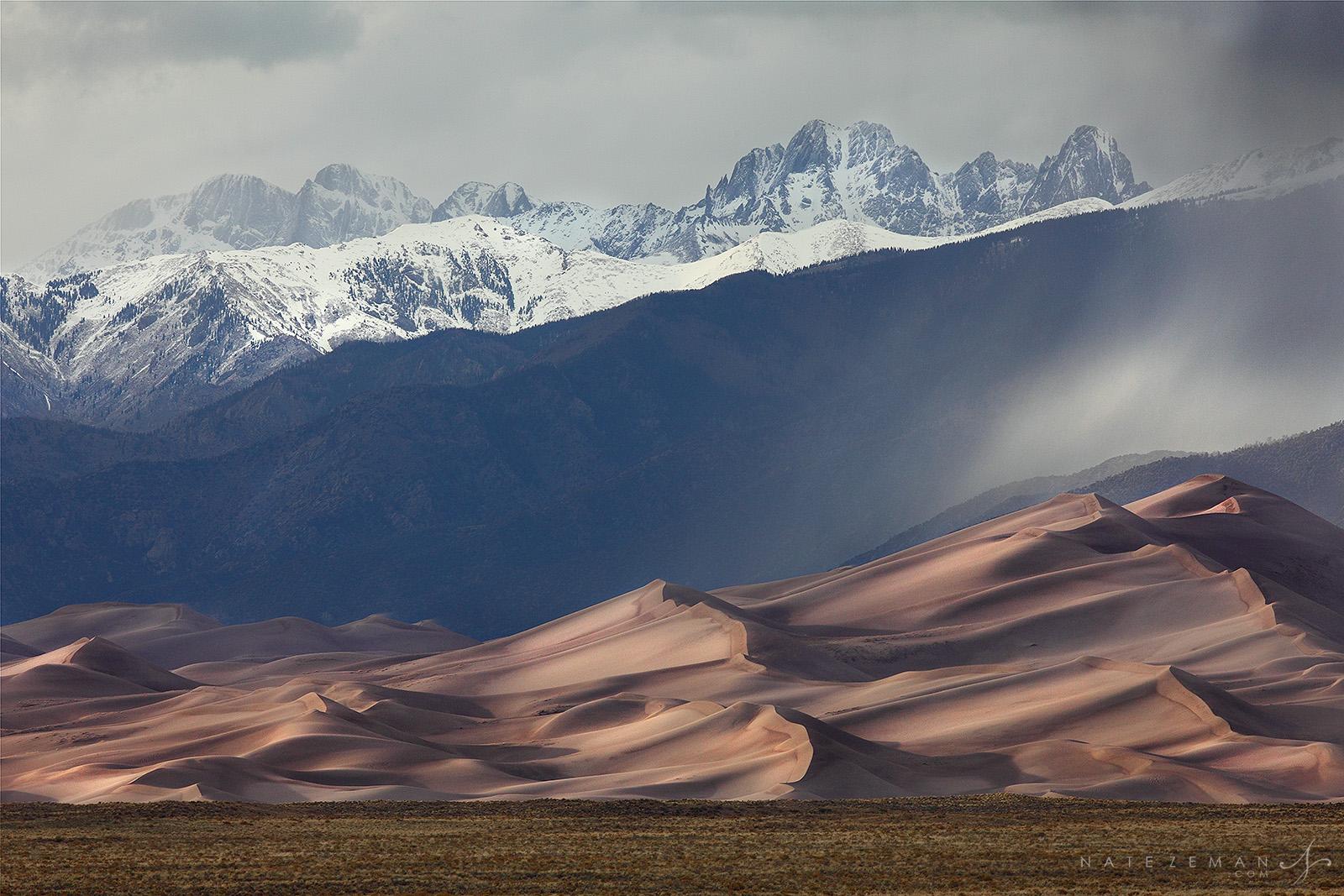 Great sand dunes, national park, dunes, sand, mountains, rain, snow, sangre de cristo, colorado, co, photo