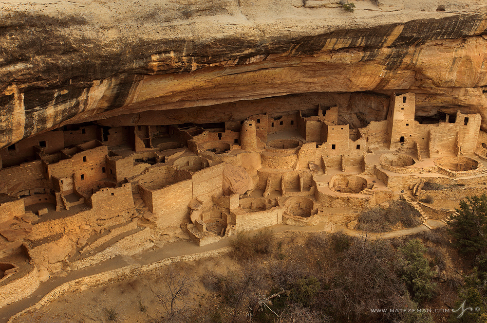 This magnificent hand built rock metropolis is the Cliff Palace of Mesa Verde. Of the countelss cliff dwellings that occupy Mesa...