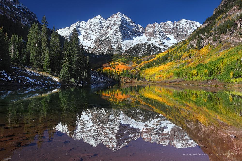 maroon bells, photograph, fall, reflect, colorado, , photo