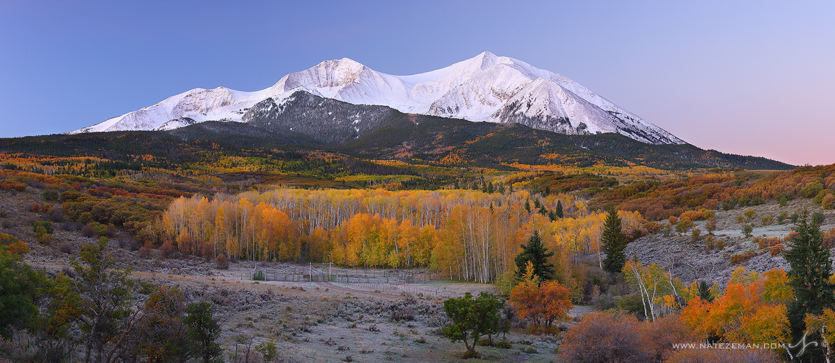 mt sopris, sopris, mountain, elk mountains, colorado, snow, fall color, prominence, elevation, east sopris, west sopris, , photo