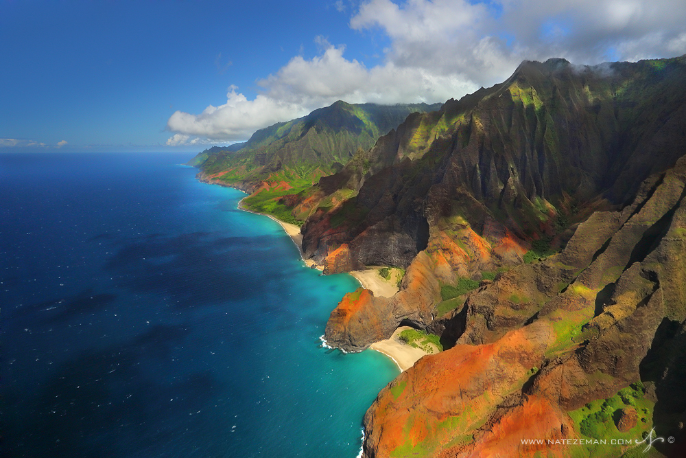 Na Pali Coast, Nā Pali Coast, kauai, hawaii, coast, north shore, pacific ocean, colors, landscape, beaches, photo